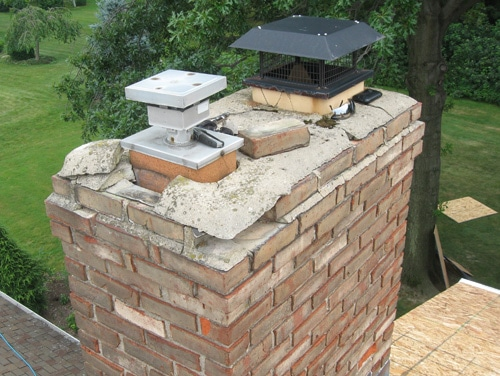 Before Repointing Angelos Roofing And Construction Erie